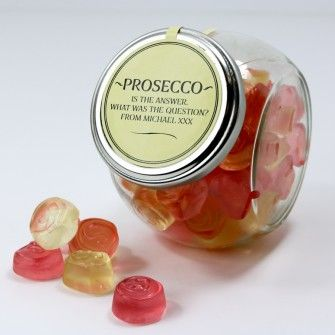 Personalised Classic Prosecco Gummies - Prosecco is the answer