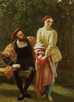Orsino e Viola - Frederick Richard Pickersgill La dodicesima notte