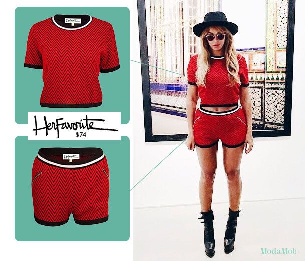 Get Beyoncé's fire red shorts set without burning through the wallet #queenbey #fashioninspo
