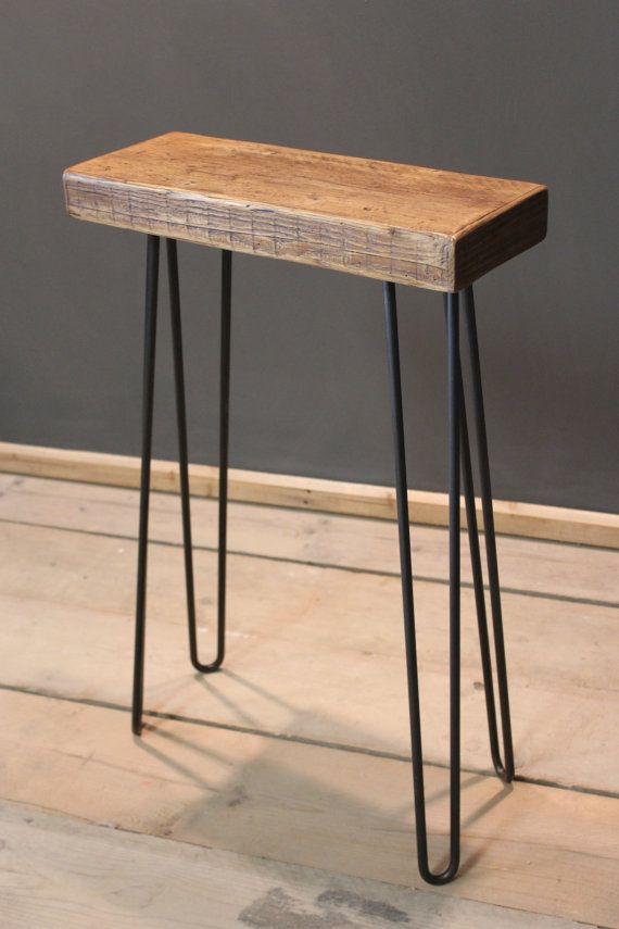 telephone hallway table handmade rustic the dern