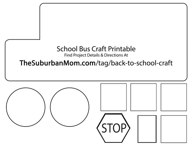 template school bus cut out | Back To School: School Bus Countdown Kids Craft