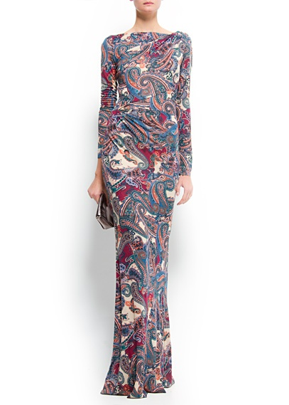 Printed maxi-dress