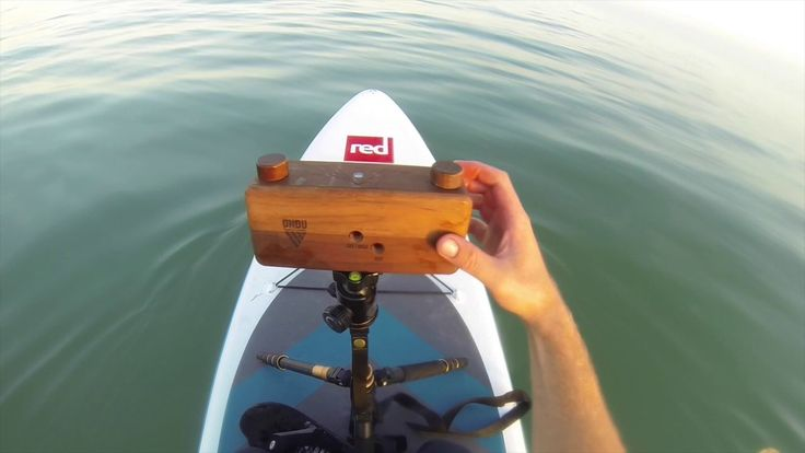 Pinhole photography on a Stand Up Paddle Board