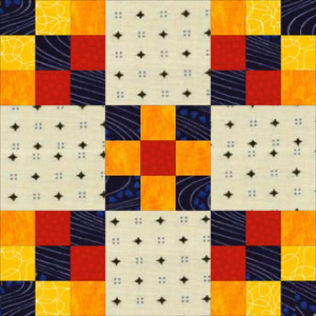 "Learn How to Make Easy Double Nine Patch Quilt Blocks: Learn to Make Double Nine Patch Quilt Blocks.  The block is  only 11 1/14"" so will make  the blocks alittle bight to  make  it 12 1/2' for  swap."