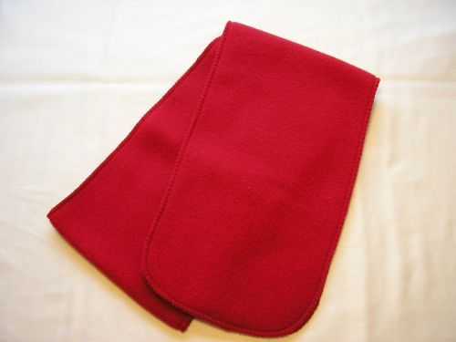 Cherry Red Fleece childs scarf.