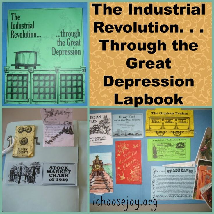 The Industrial Revolution thru Great Depression Lapbook. See how these great materials from Homeschool in the Woods can be used to supplement any homeschool history curriculum. Or, they can be used alone! ~I Choose Joy!