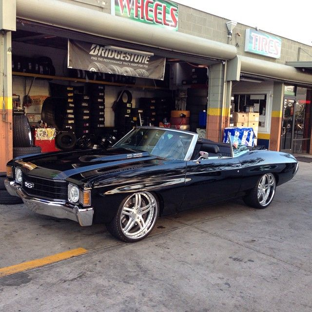 72 chevelle convertible bay area cars, split 5 star forged wheels brushed face,