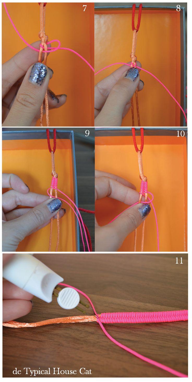 en-rHed-ando: Como hacer Pulseras con Nudos-Espigas