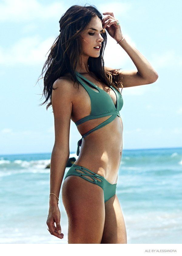 d2670ff5c6e Alessandra Ambrosio in Hot Swimwear Looks for Her Ale by Alessandra Line