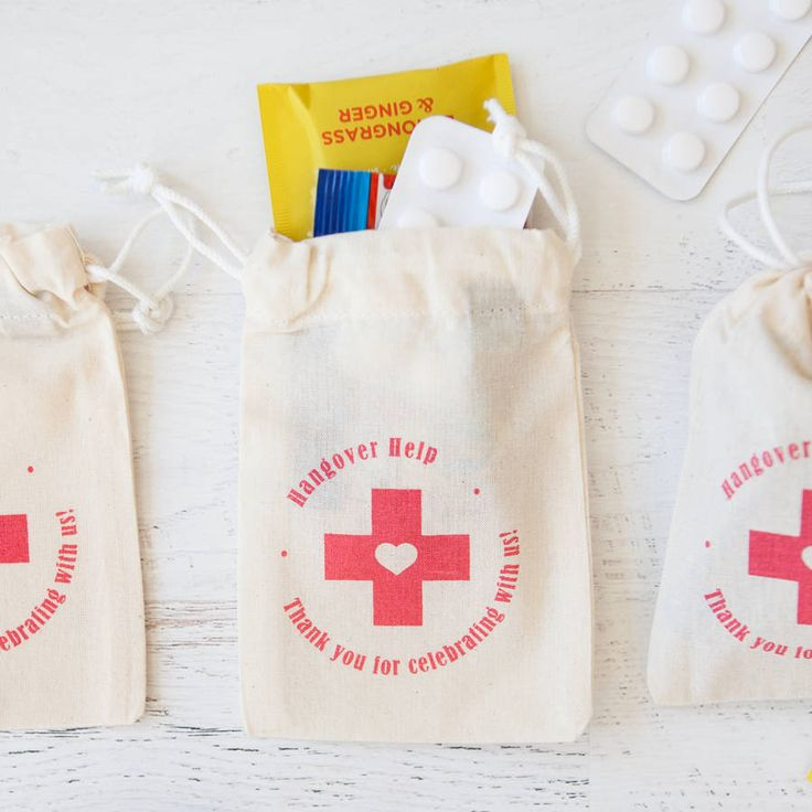 Are you interested in our wedding hangover help pouch? With our hangover kit bag favour you need look no further.