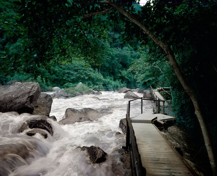 It took over 1 year to build a 1km walkway so Guests can walk in and around the beautiful waterfalls at www.karkloofsafarispa.com