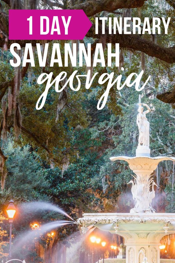 One Day In Savannah Itinerary Travel Guide In 2020 Traveling By Yourself Travel Itinerary Trip Planning