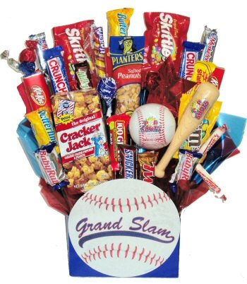 Baseball lovers candy basket