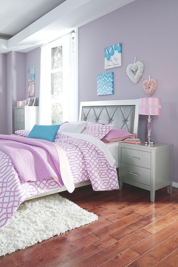 Olivet Full Panel Bed, Silver Bedroom collection