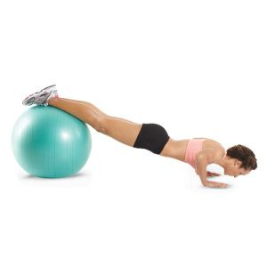 Stability ball pushups.  This great exercise works your prettymuch everything: core, back, chest and your arms!  Start out with the stability ball on your thighs and do pushups that way.  When you get stronger, work up to having the stability ball all the way at your ankles!  Get toned and eat up your body fat little by little:)
