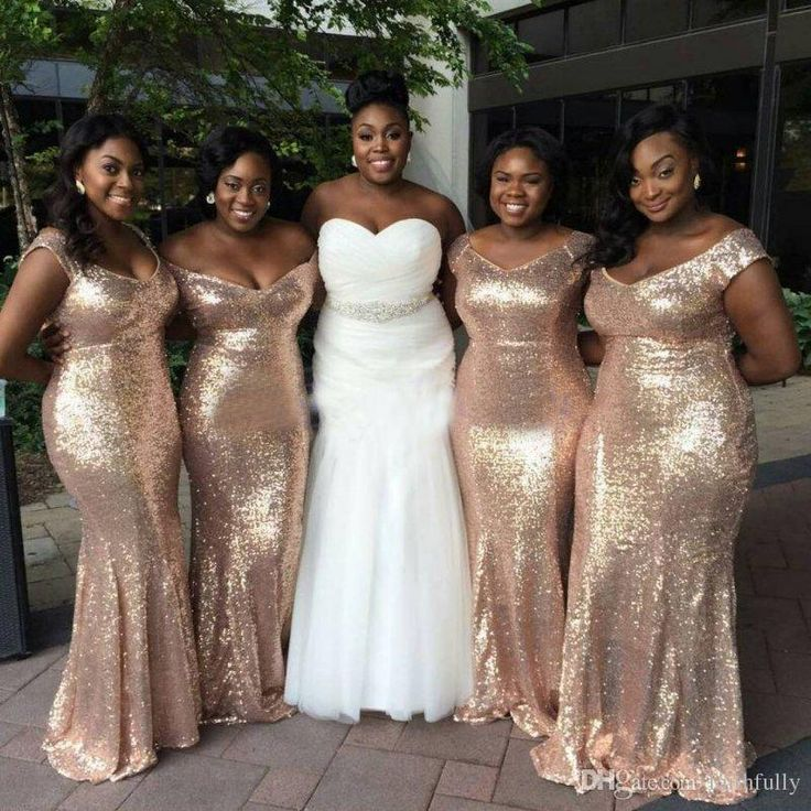 Sparkly Rose Gold Cheap 2017 Mermaid Bridesmaid Dresses Off Shoulder Sequins Backless Plus Size Bridesmaid Gowns Short Sleeve Maids Of Honor Cheap Bridesmaid Dresses Ireland Chiffon Bridesmaids Dresses From Faithfully, $82.42| Dhgate.Com