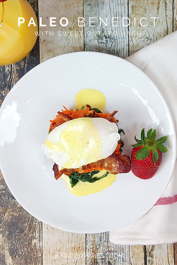 PALEO benedict - Easter breakfast, right here ... P.S. It's PALEO too! http://www.jenniferppriest.com/sweet-potato-hash-eggs-benedict-recipe/
