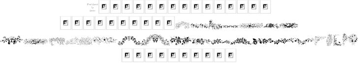 Image for Floral Garnish font