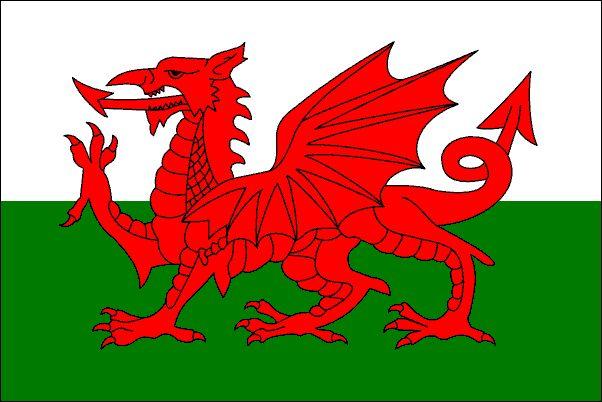 Y Ddraig Goch, the Welsh Dragon, Wales' national flag