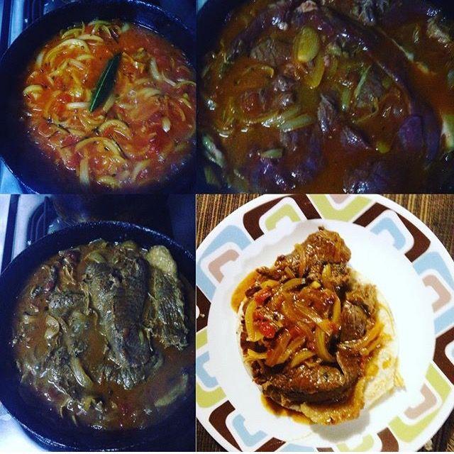 Carne en Bistec Una de las comidas favoritas de mi hermano, salsudito y sobre una arepa tostadita Una delicia!!! #YSiSeMeAntojaLoPreparo