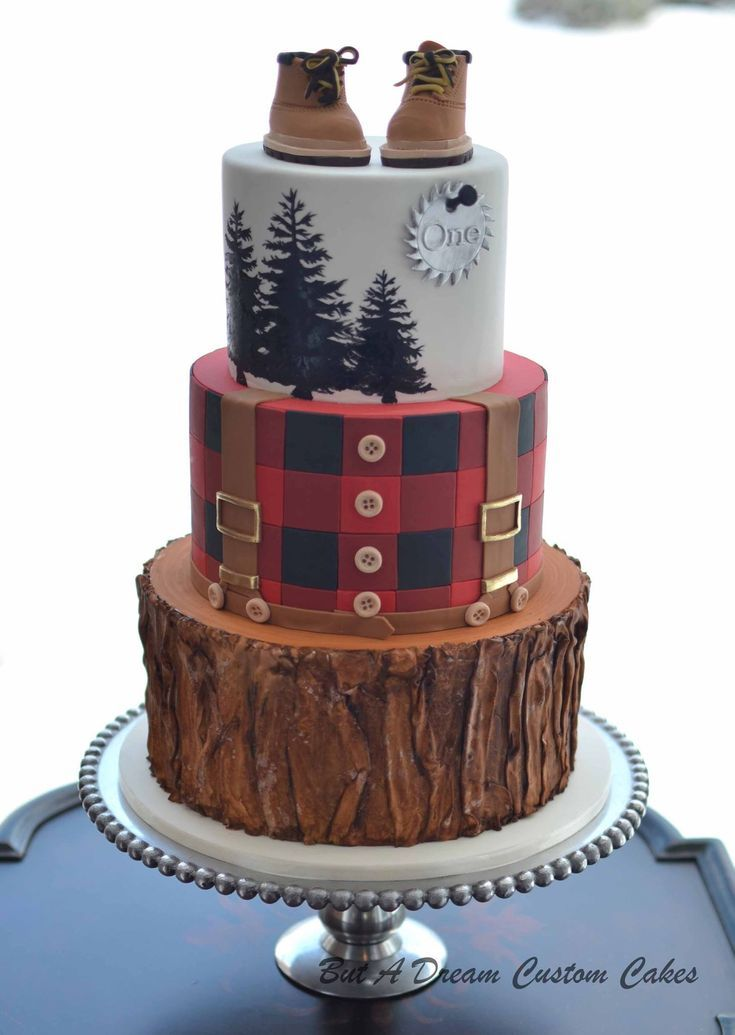 Lumberjack Cake Lumberjack Cake Shower Cakes First