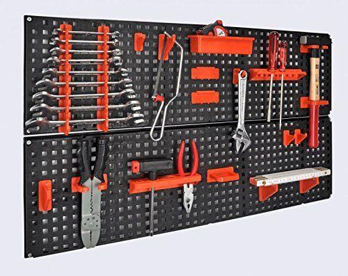 Panneau porte-outils extensible avec kit de fixation 19 pièces 80 x 48cm: Price:19.49Panneau porte-outils composé de 2 pans perforés de…