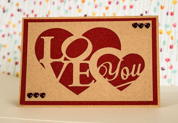 Rustic Kraft Papercut, Valentine Card, Love Heart Card, I Love You Card, Anniversary Card, to my Husband, to my Wife, To my Partner,