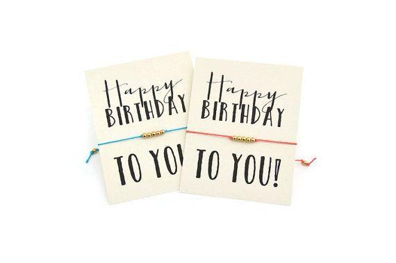 Pulsera deseo de feliz cumpleaños regalo de por VerseShop en Etsy