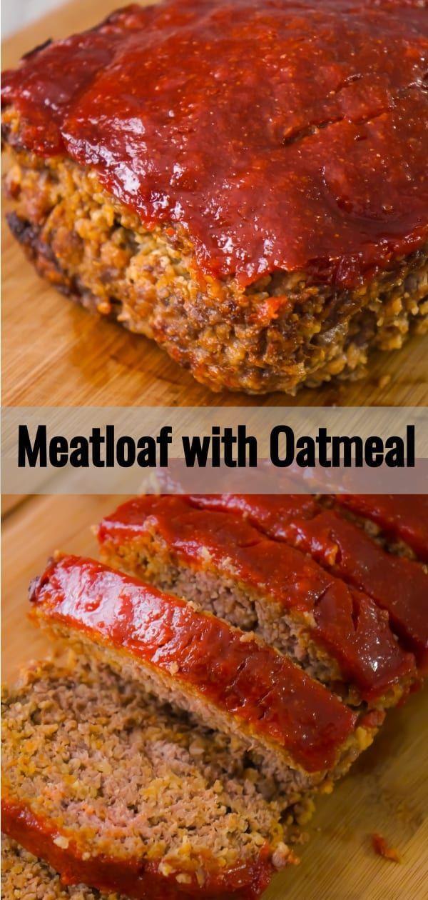 Classic Quaker Oats Meatloaf Meatloaf Recipes Meatloaf Oats Quaker