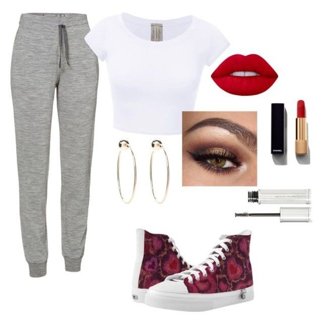 """""""Exercise"""" by lovableln on Polyvore featuring Icebreaker, Bebe, Lime Crime, Givenchy and Chanel"""