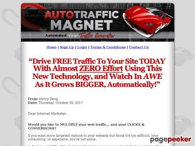 Product Name: Auto Traffic Magnet – Free Targeted Web Traffic Generator   Click here to get Auto Traffic Magnet – Free Targeted Web Traffic Generator at discounted price while it's still available…    All orders are protected by SSL encryption – the highest industry...