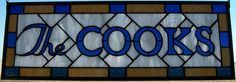 personalized stained glass signs - Google Search