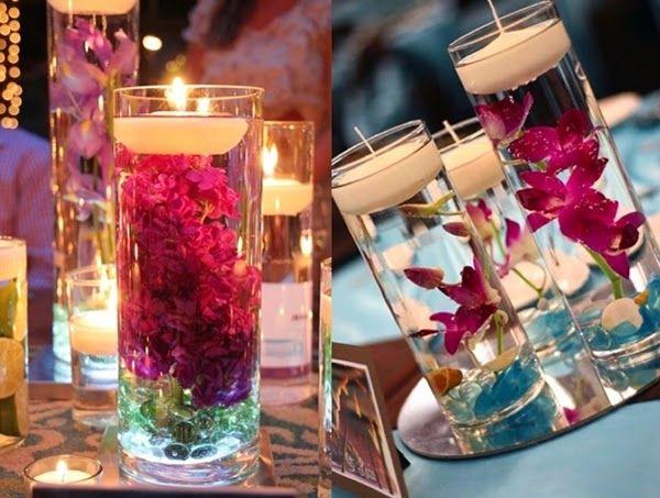 Decoração com Flores Submersas - Apenas Três Palavras: Sim, Eu Aceito!
