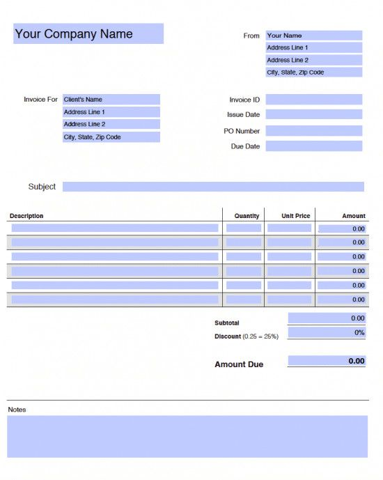 Adobe Acrobat Form Template Free Blank Invoice Templates In Adobe Pdf Pdf Invoice Template Invoice Template Word Invoice Design Template