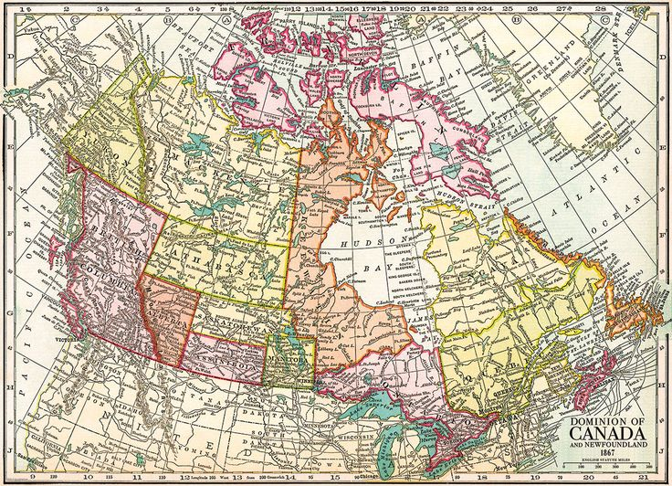 Map of the Dominion of Canada and Newfoundland - 1867. 1000 pieces jigsaw puzzle.