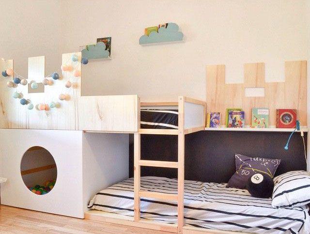 Las 25 mejores ideas sobre cama de castillo en pinterest y - Ikea iluminacion ninos ...