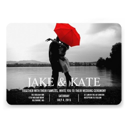 Photo Card Wedding Invitation | Names
