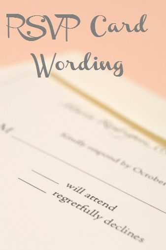 """perfect! wedding rsvp (reply card) wording -- love this part: """"•Some guests will assume that their guests/dates/friends are of course invited, regardless of to whom you address the card. You can avoid these assumptions by writing """"___ of ___ guest(s) will attend"""", and then pre-filling in the second blank with the number of people that you are inviting. Some may find this slightly distasteful, but it certainly does get the point across!"""""""