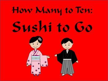 Math Centers: How Many to Ten - Sushi To Go