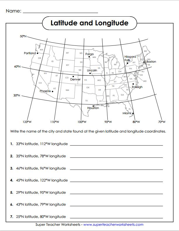 Latitude and Longitude worksheet: Homeschool Ideas, Lesson Worksheets ...