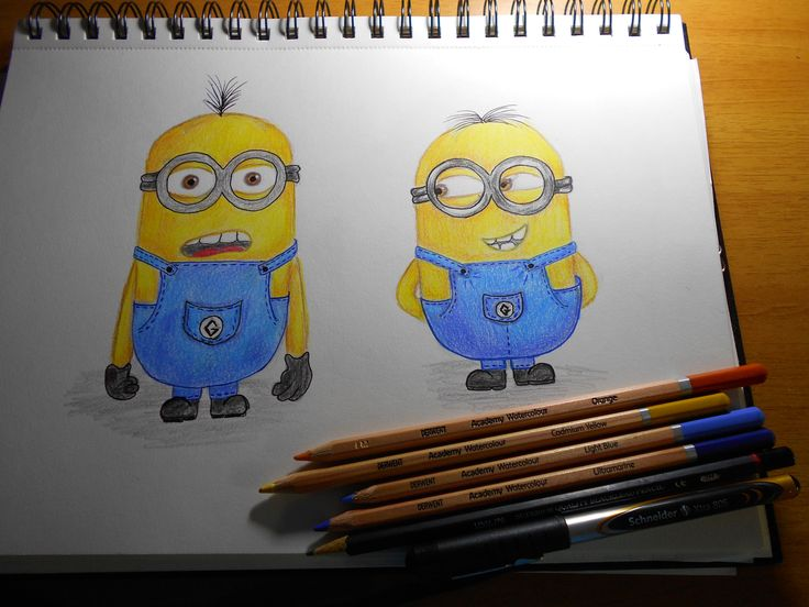 Minions color drawing