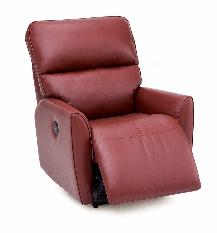 Palliser Furniture Markland Wall Hugger Recliner Upholstery: All Leather  Protected   Tulsa II Jet, Leather Type: Leather PVC/Match, Type: Power