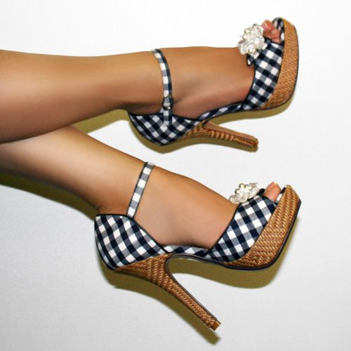 Naughty Monkey's Dreamy Ankle-Strap High-Heeled Sandal from 2011...  Sad to say, they don't make shoes like this any more!