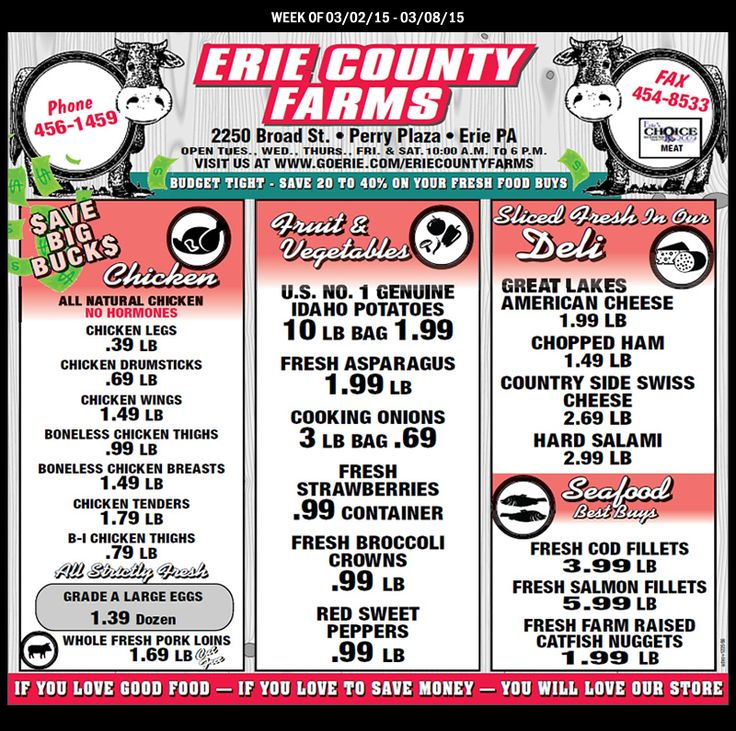 Erie County Farms Weekly Ad Week of 3-2 thru 3-8 2015