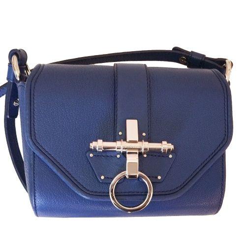 Bolso Obsedia #Givenchy azul de piel. Lo puedes llevar bandolera o de un hombro: http://bit.ly/1Vo5lMv  #REBAJAS #sales #bolsosdelujo