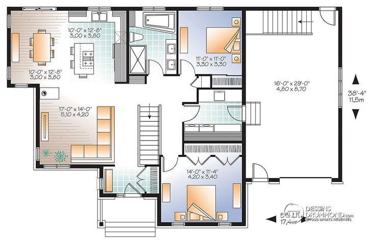 Détail du plan de Maison unifamiliale W3133-V1