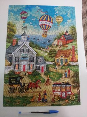 Minipuzzle...more difficult, but still 1000 pieces