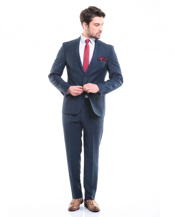 Erkek : Toss Erkek Takım Elbise - İndigo