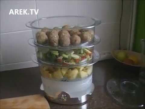 Pulpety z parowaru gotowy obiad :-)