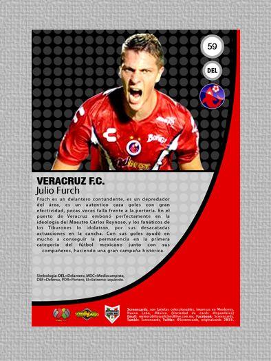 Card # 59 Julio Furch Nacionalidad: Argentino Club: Tiburones Rojos de Veracruz Colección: Liga Mx